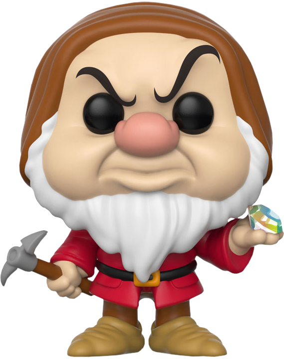 Snow White and the Seven Dwarfs - Grumpy with Diamond and Pick Pop! Vinyl Figure