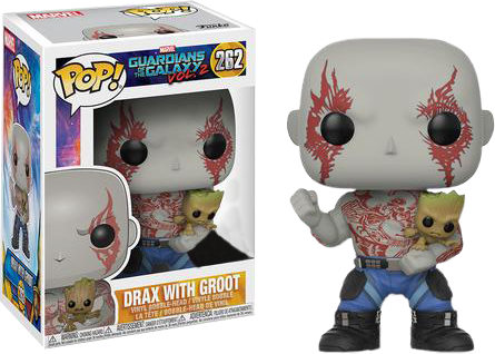 PRE-ORDER Guardians of the Galaxy: Vol 2 - Drax with Groot Pop! Vinyl Figure