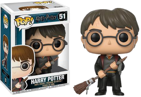 Harry Potter - Harry with Firebolt Exclusive Pop!