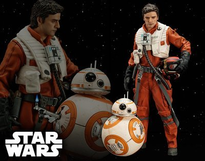 Star Wars Poe Dameron and BB-8 Two Pack The Force  Awakens ArtFX+ Statue