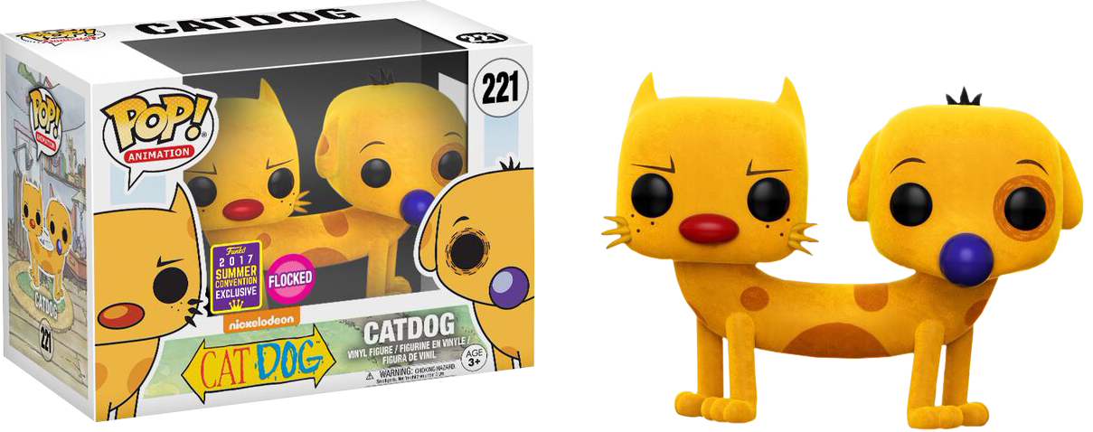 Catdog Flocked Pop! Vinyl Figure 2017 Summer Convention Exclusive