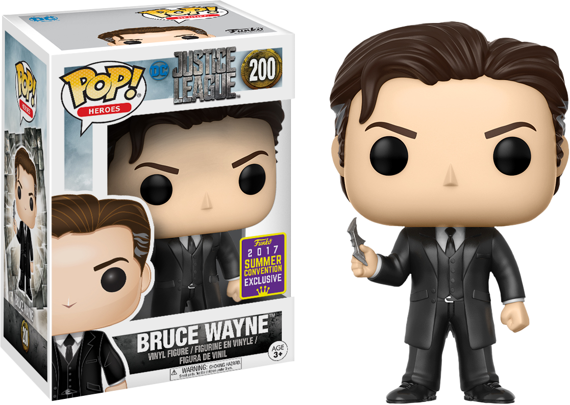 Justice League 2017 - Bruce Wayne Pop! Vinyl Figure 2017 Summer Convention Exclusive