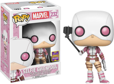 Deadpool - Gwenpool with Selfie Stick Pop! Vinyl Figure 2017 Summer Convention Exclusive