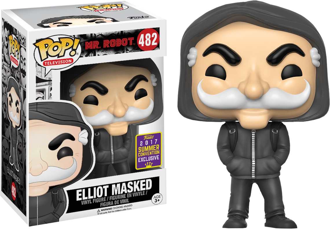 Mr Robot - Masked Elliot Alderson Pop! Vinyl Figure 2017 Summer Convention Exclusive