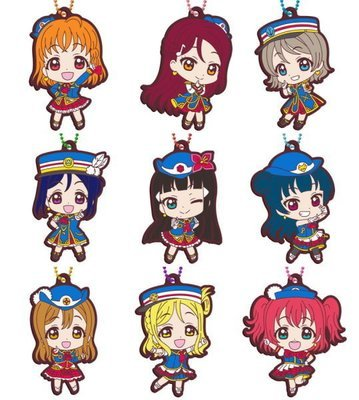 Love Live! Sunshine!! Capsule Rubber Mascot vol.5 Complete Set of 9
