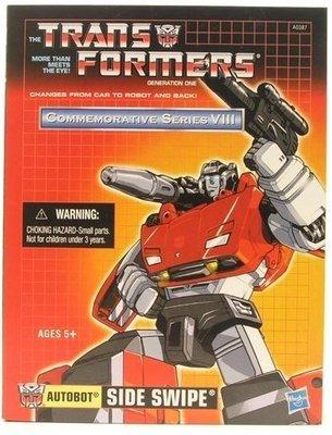 Transformers TRU G1 Commemorative Series VIII Reissue Sideswipe