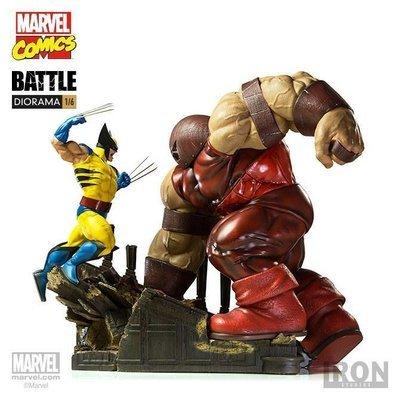 Marvel Comics Wolverine vs Juggernaut Battle Diorama 1/6