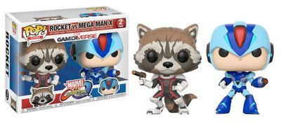 Marvel vs Capcom Rocket Vs. Megaman X 2Pack Pop! Vinyl Figure