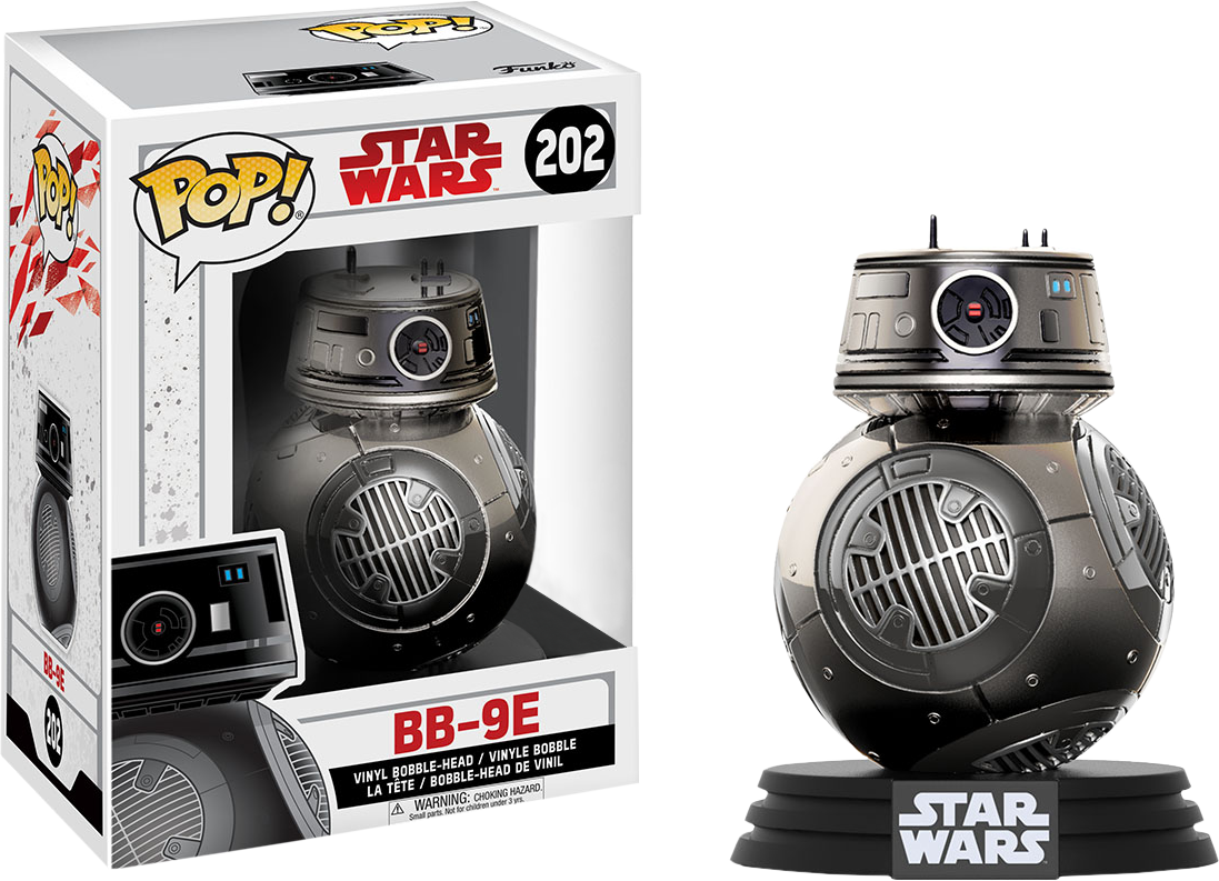 PRE-ORDER Star Wars - BB-9E Chrome Episode VIII The Last Jedi Exclusive Pop! Vinyl