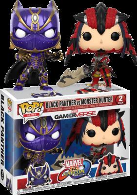 Marvel Vs. Capcom - Black Panther Vs Monster Hunter Pop! Vinyl Figure 2-Pack