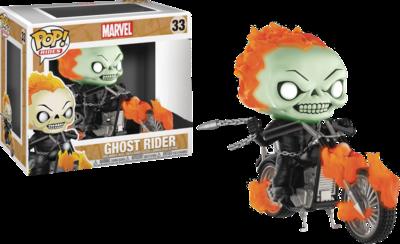 Ghost Rider - Ghost Rider Glow in the Dark Exclusive Pop! Ride Vinyl Figure