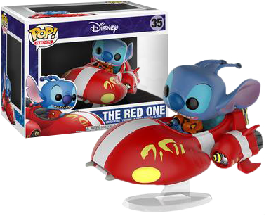 Lilo and Stitch - The Red One with Stitch Pop! Ride Vinyl Figure