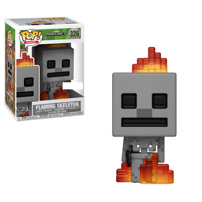 Minecraft - Flaming Skeleton Exclusive Pop! Vinyl Figure