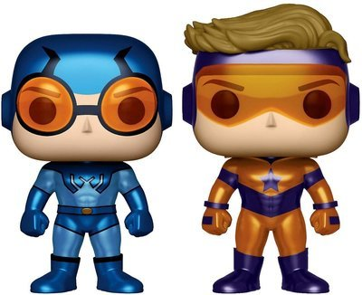 DC Universe Booster Gold and Blue Beetle 2-Pack Exclusive Pop! Vinyl Figure