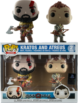 God of War (2018) - Kratos (Armored) & Atreus Pop! Vinyl Figure 2-Pack