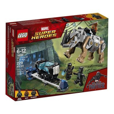 LEGO Black Panther RhinomFace-off by the Mine