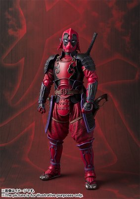 Meisho Manga Realization Kabukimono Deadpool Action Figure