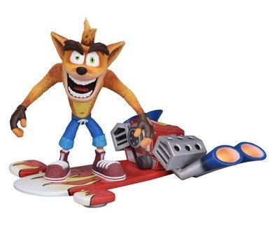 PRE-ORDER Crash Bandicoot Hoverboard Crash Deluxe Figure