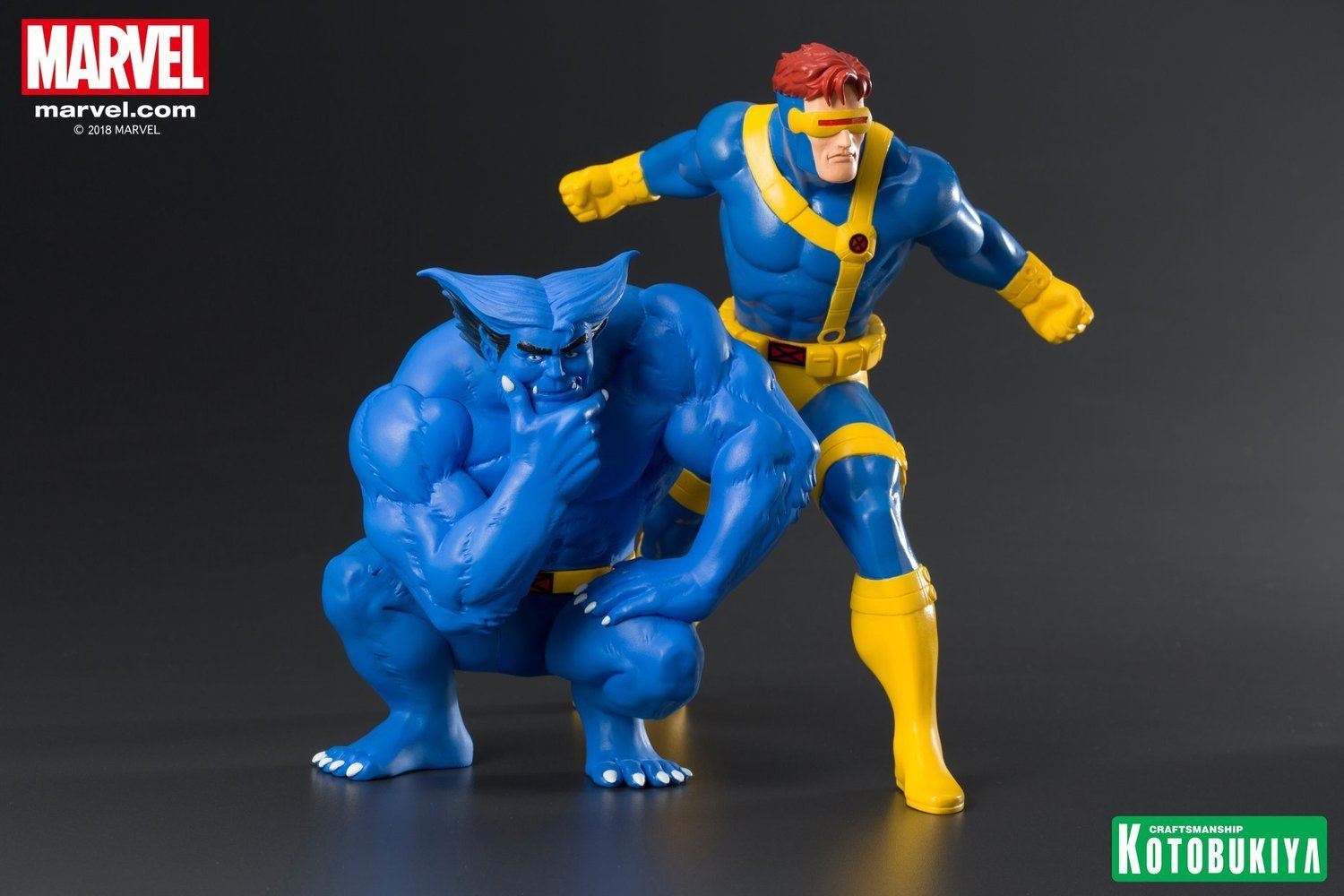 Marvel Universe Cyclops & Beast Two Pack ArtFX+ Statue