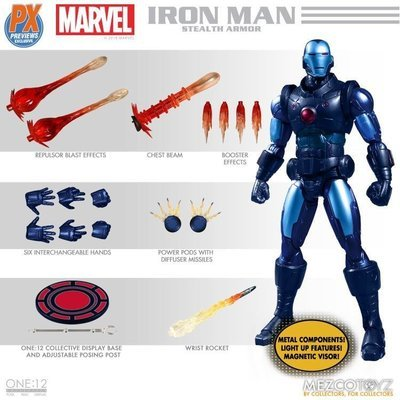 PRE-ORDER One : 12 Collective Stealth Ironman PX Exclusive