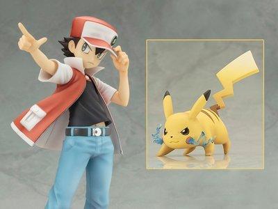 Pokemon ArtFX J Red With Pikachu Statue
