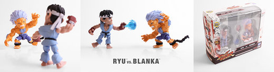 Street Fighter Altered Costume Ryu and Blanka 2 Pack Mini Figures SDCC 2017 Exclusive