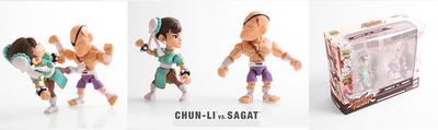 Street Fighter Altered Costume Chun-li and Sagat 2 Pack Mini Figures SDCC 2017 Exclusive