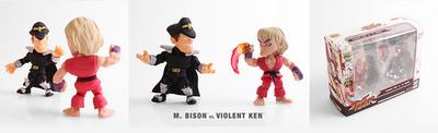 Street Fighter Altered Costume Violent Ken and Bison 2 Pack Mini Figures SDCC 2017 Exclusive