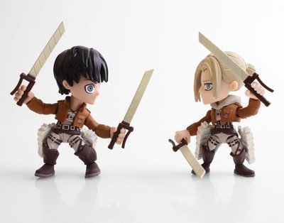 Attack on Titan Eren and Annie Fear Edition 2 Pack Mini Figures SDCC 2017 Exclusive