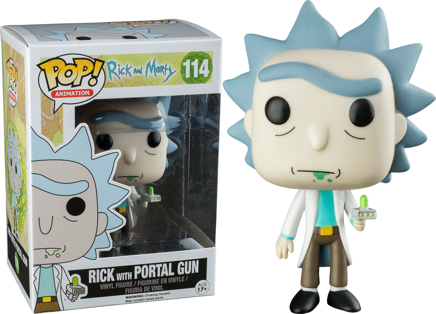 PRE-ORDER Exclusive Rick and Morty - Rick with Portal Gun Pop! Vinyl Figure