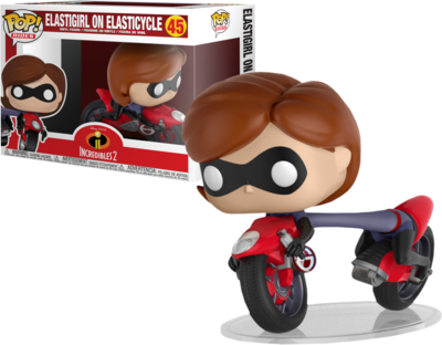 PRE-ORDER Incredibles 2 - Elastigirl with Elasticycle Pop! Rides Vinyl Figure