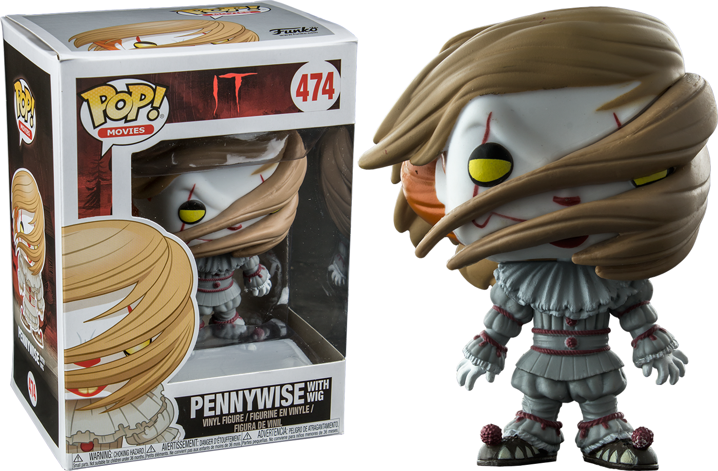 PRE-ORDER It 2017 - Pennywise with Wig Exclusive Pop! Vinyl