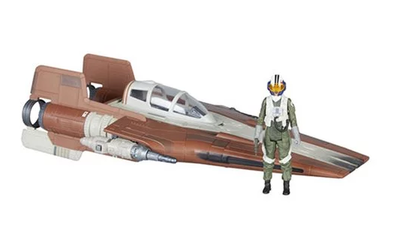 PRE-ORDER Exclusive Star Wars Force Link 2.0 Resistance A-Wing Fighter Vehicle with Resistance Pilot Action Figure
