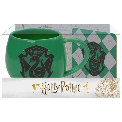 PRE-ORDER Ohapt mug with Coaster Green Slytherin