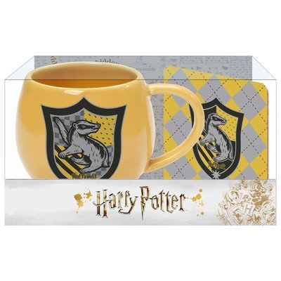 PRE-ORDER Ohapt mug with Coaster Yellow Hufflepuff
