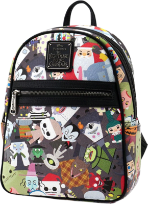 "PRE-ORDER The Nightmare Before Christmas - Multi Character 11"" Faux Leather Mini Backpack"