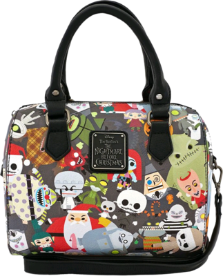 "PRE-ORDER The Nightmare Before Christmas - Multi Character 7"" Faux Leather Duffle Bag"