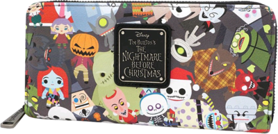 "PRE-ORDER The Nightmare Before Christmas - Multi Character 8"" Faux Leather Zip-Around Wallet"