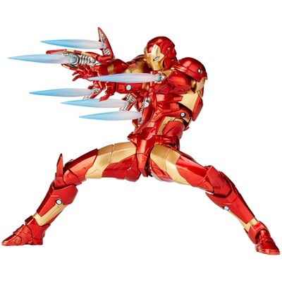 PRE-ORDER Marvel Revoltech Vulcanlog Amazing Yamaguchi Bleeding Edge Iron Man
