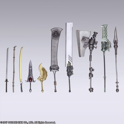 PRE-ORDER NieR: Automata Bring Arts Trading Weapon Collection (Set of 10)