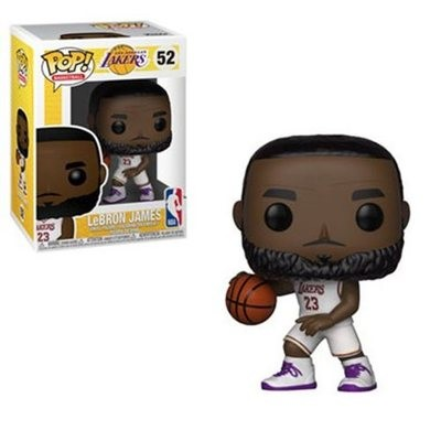 NBA Lakers LeBron James White Uniform Pop! Vinyl Figure (Batch 2)
