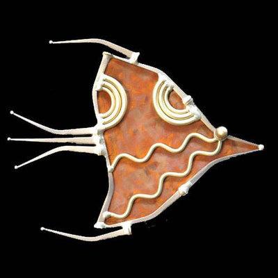 Single Angel Fish with Waves