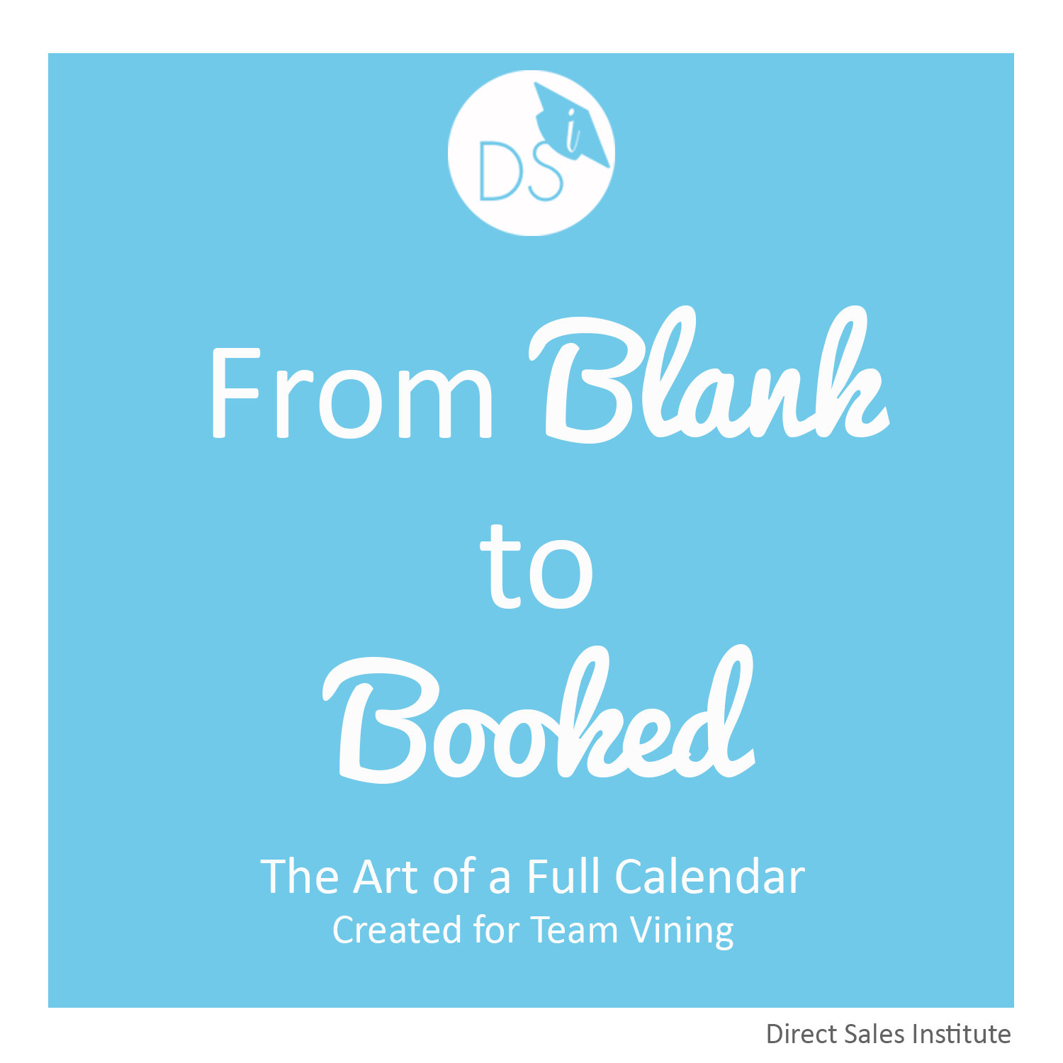 From Blank to Booked