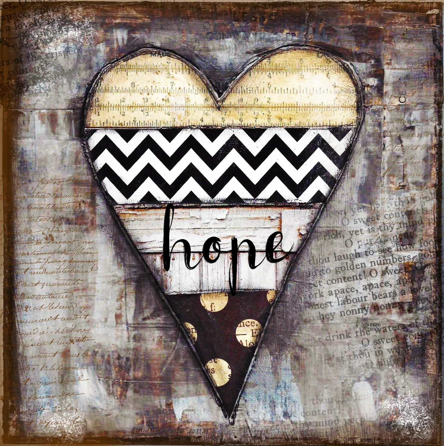 """Home"" black and white heart"