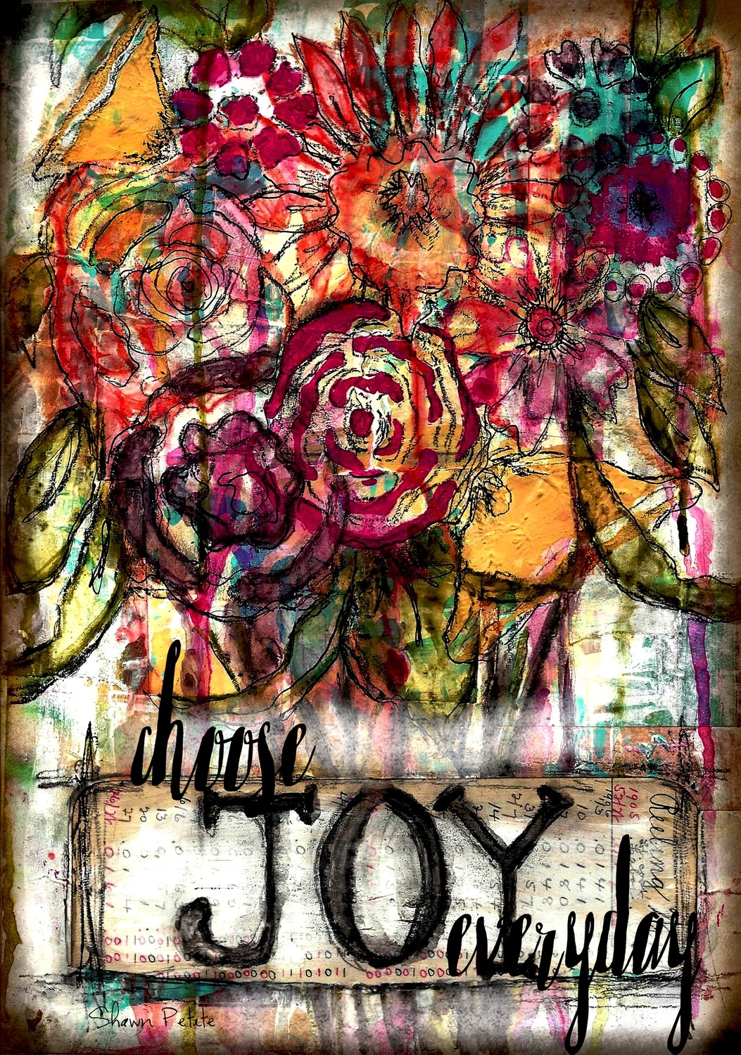 """Choose Joy Everyday"" print of original on wood"