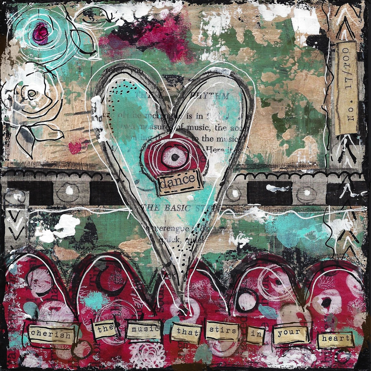 "Heart Series ""Dance"" Print on Wood or Print to be Framed"
