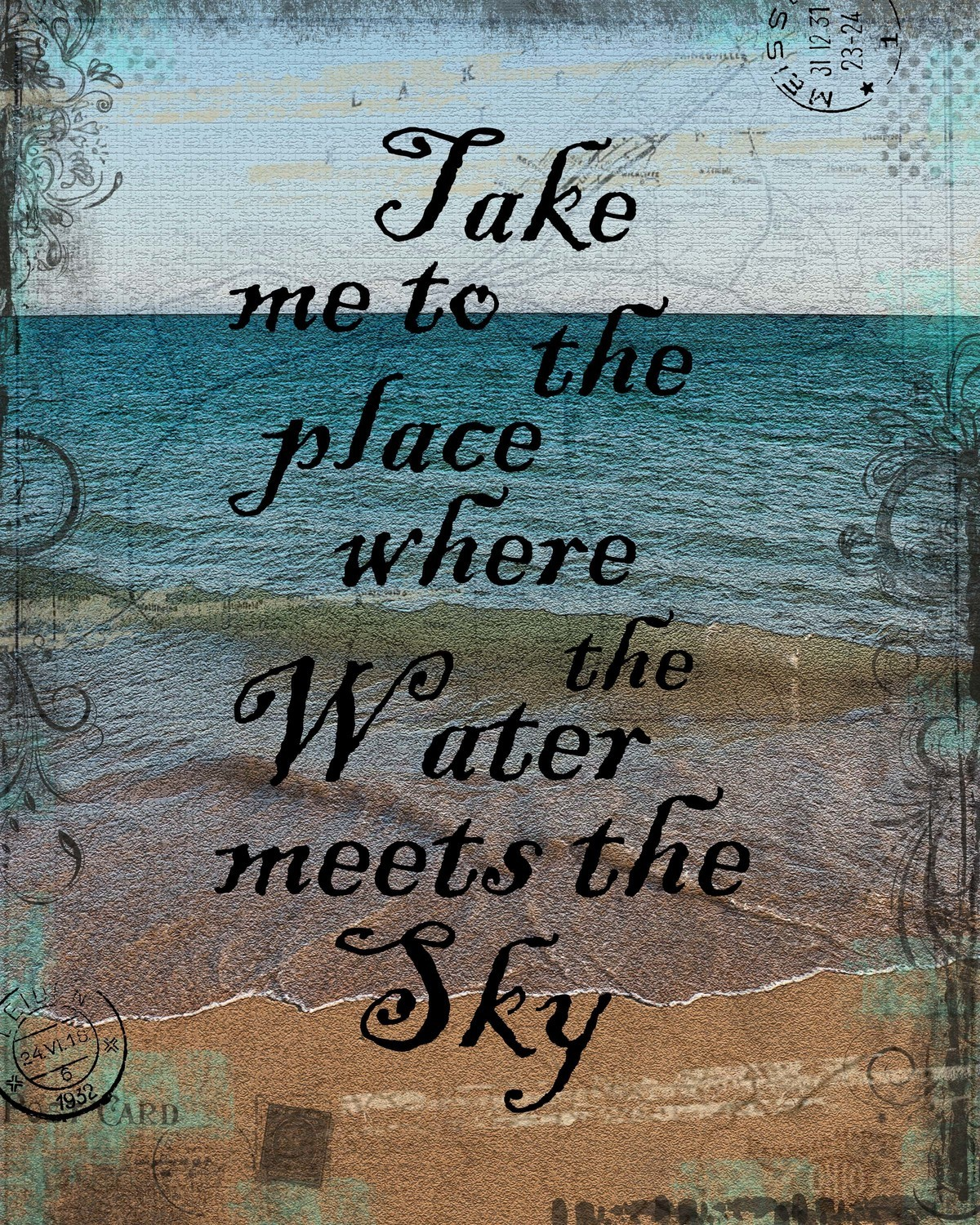 """Take me to the Place"" print of the original on wood"