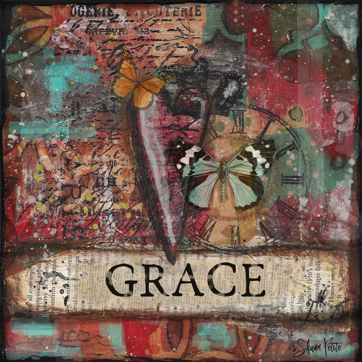 """Grace"" Print on Wood and Print to be Framed"
