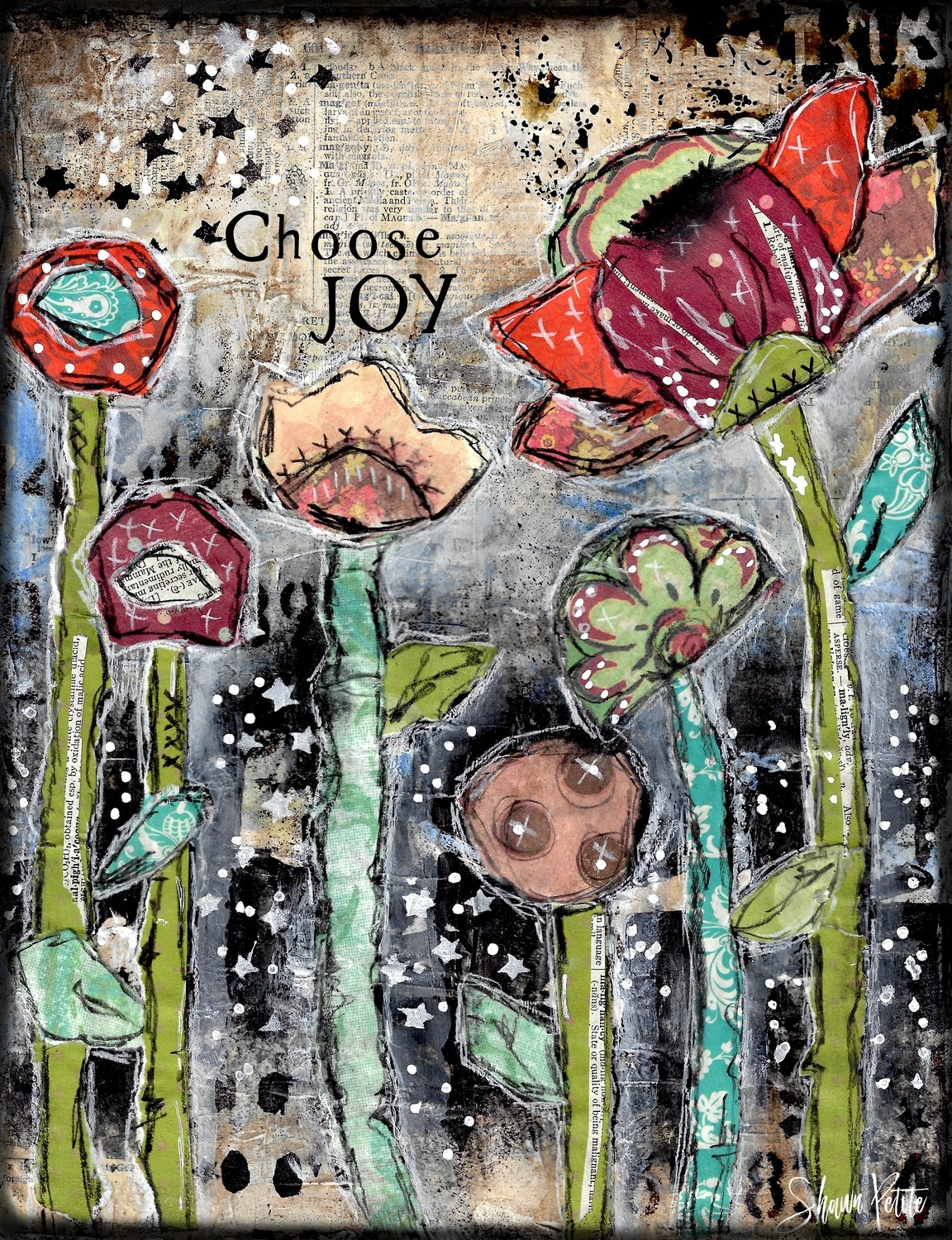 """Choose Joy"" Print on wood or Print to be Framed"