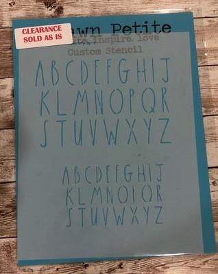 Skinny Font Clearance